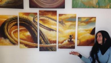 Foto de Artista Paulista, Luciana Raquel Castro mostra sua linda arte com Dragon Ball pintada a óleo